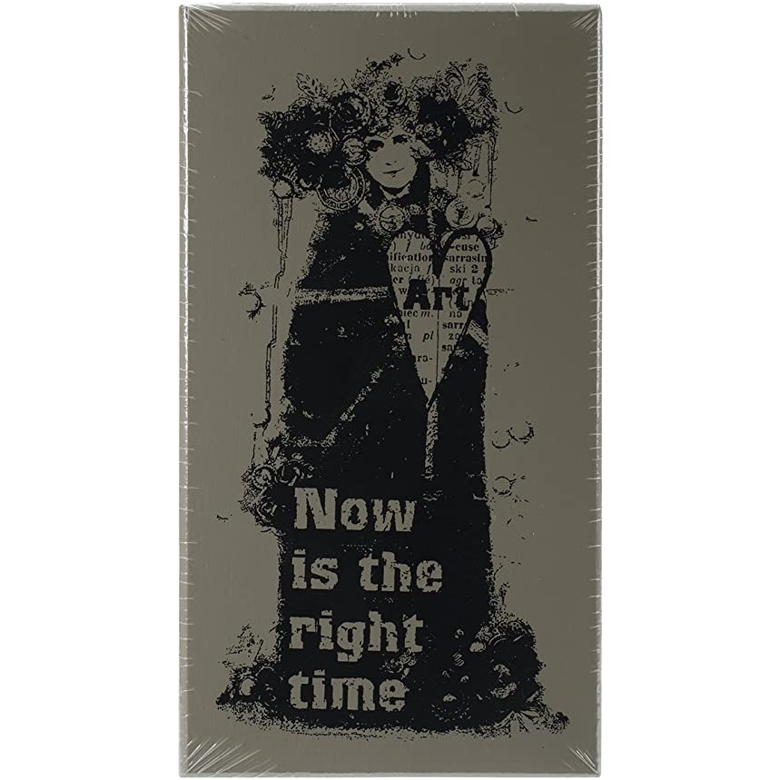 Finnabair Wood Mounted Stamps 2.5x5 -Now Is The Right Time