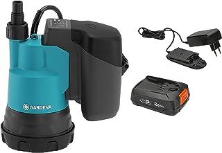 Gardena 14600-20 Bomba de inmersión en agua fresca de la batería de 18V 2000/2 P4A Ready-To-Use Set, Standard