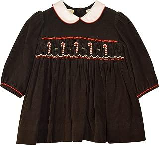 baby girl smocked christmas dress
