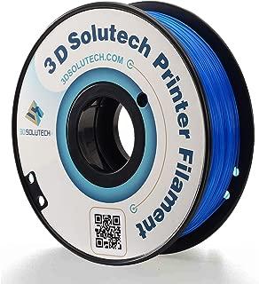 3D Solutech See Through Blue 1.75mm Flexible 3D Printer Filament 2.2 LBS (1.0KG)