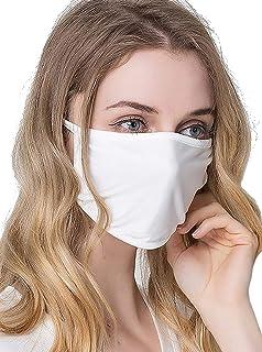マスク 2枚入り 個包装 100シルク フリーサイズ おやすみマスク Silk 繰り返し使える UVカット 大きめ...