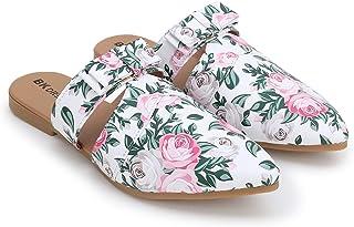 BK Dream New Latest Women's Fashion Flat Sandals Color (BK-101-Multi (White)