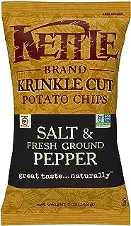 Kettle Chips Salt and Freshground Pepper, Krinkle-Cut, 141g