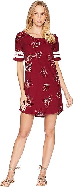 Scoop Neck Short Sleeve w/ Armband Dress