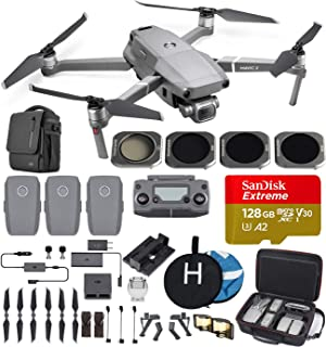 DJI Mavic 2 Pro (Hasselblad Camera) with Fly More Kit Travel Bundle – 3 Batteries, Charging Hub, Professional Carrying Case and More