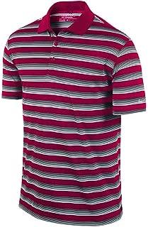 Nike Golf Men's Tech Core Stripe Polo Shirt 818048 (Medium, Fireberry/Black/White)