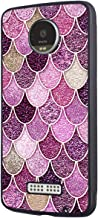 Moto Z Force Case,Moto Z Force Case,Slim Impact Resistant Shock-Absorption Rubber Protective Case Cover for Motorola Moto Z Force/Motorola Moto Z Force Droid - Pink Mermaid Scales