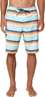 O'NEILL Men's Water Resistant Ultrasuede Classic Swim Boardshort, 21 Inch Outseam (Slate/Santa Cruz Stripe, 33)