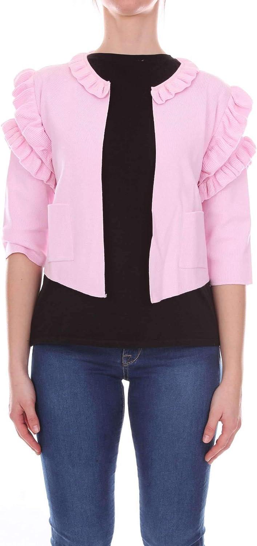 Akep Women's KE771PINK Pink Viscose Jacket