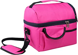 WSLCN 8 L Lunch Box Double Thicken Heat Preservation Cold Insulation Bag Ice Pack Cooler Food Storage Bag Travel Picnic Ba...