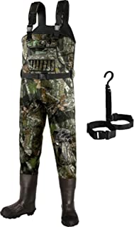 Dark Lightning Neoprene Hunting Waders for Men and Women with 800G Insulated Rubber Boots, Mens/Womens High Chest Camo Fis...