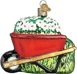 Old World Christmas Wheelbarrow Garden Gifts Glass Blown Ornaments for Christmas Tree