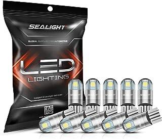 SEALIGHT 194 LED Bulbs 6000K White, 168 2825 T10 W5W 3030 Bright LED Chips, Dome Light,..