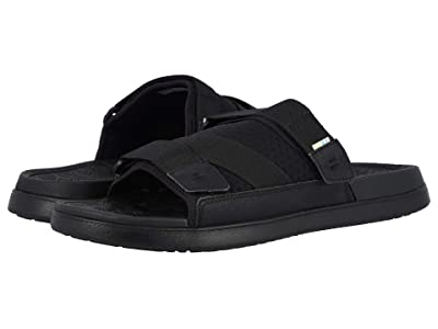 TOMS TRVL LITE Sandal (Black/Black Synthetic Nubuck/Textured Mesh Mix) Men