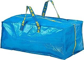 Ikea Frakta Lot de 2 sacs à linge solides à fermeture Éclair Bleu 76 l