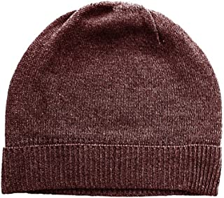 Chocolate Brown Pure 100% Cashmere Beanie Hat Unisex