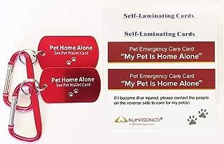 KumasonCo Dog Identification Tag and Emergency Wallet Card Kit (Pack of 2)