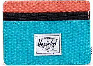 Herschel Charlie Wallet, pájaro Azul/Negro Ripstop/Emberglow