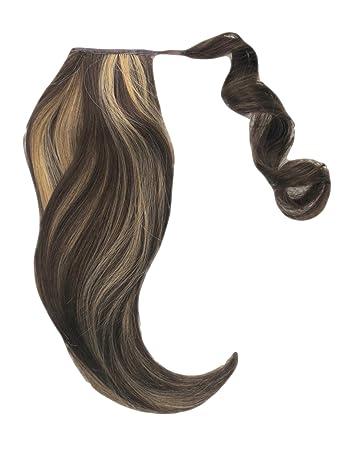 Dunkelbraun mit blonden strähnen