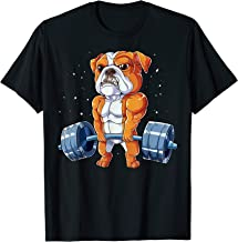 English Bulldog Weightlifting Funny Deadlift Men Fitness Gym T-Shirt