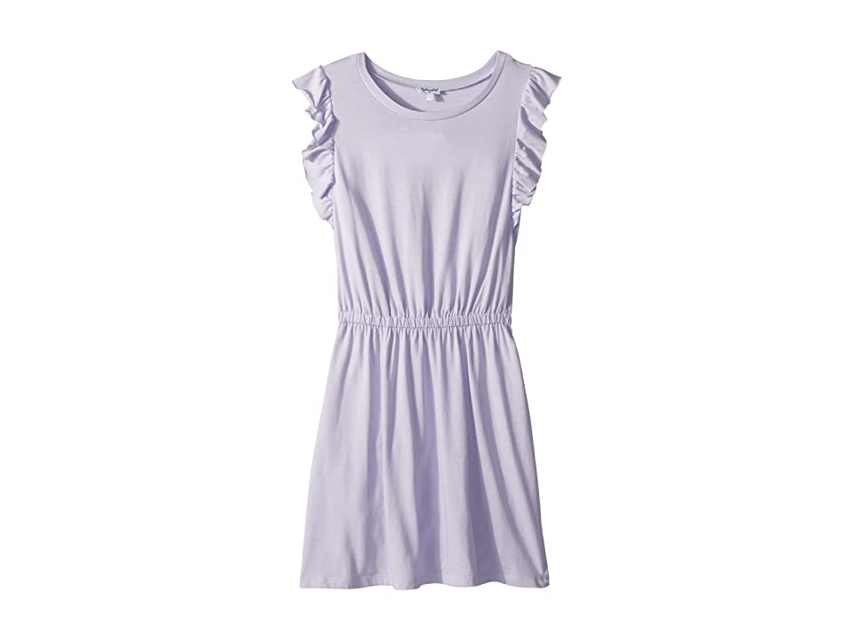 Splendid Littles Ruffle Tank Dress (Big Kids) (Purple Heart) Girl