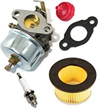 HIFROM Carburetor Carb Kit With 30727 30604 Air Filter Fuel Filter Gasket Spark Plug for Tecumseh H30 H50 H60 HH60 Engines Replace 632230 632272