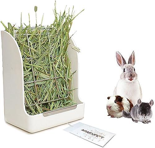 Guinea Pigs Hay Feeder Rack, Rabbit Mess-Free Alfalfa Dispenser,Hay Manger Rack for Small Animal, Rabbit, Guinea Pig,...