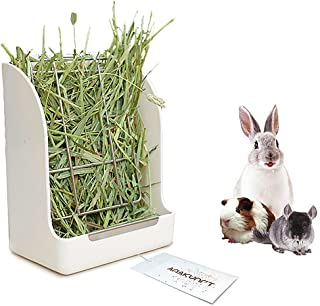 Guinea Pigs Hay Feeder Rack, Rabbit Mess-Free Alfalfa Dispenser,Hay Manger Rack for Small Animal, Rabbit, Guinea Pig, galesaur, Ferret