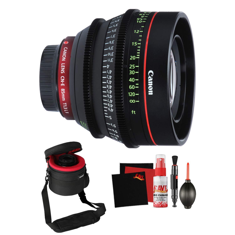 Canon CN-E 85mm T1.3 L F Cine Lens Professional Filmmaker Bundle ...