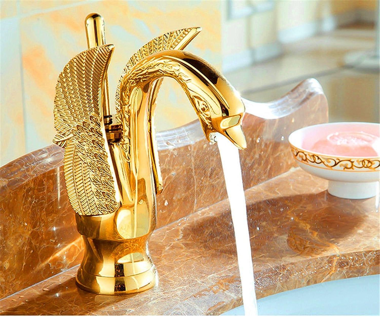 Good quality Antiquitten Becken Spül Mischer Tap All-Kupfer antiken Waschbecken Mixer Gold Schwan Wasserhahn Retro Wasserhahn