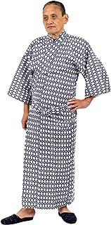 和ざらし ガーゼ 寝巻き 日本製 Mサイズ 紳士用 二重袷ガーゼ 綿100% お寝巻 ねまき パジャマ 浴衣 旅館 介護 男性 メンズ