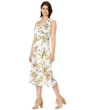 Sam Edelman Shadow Stripe Maxi Dress (White Multi) Women
