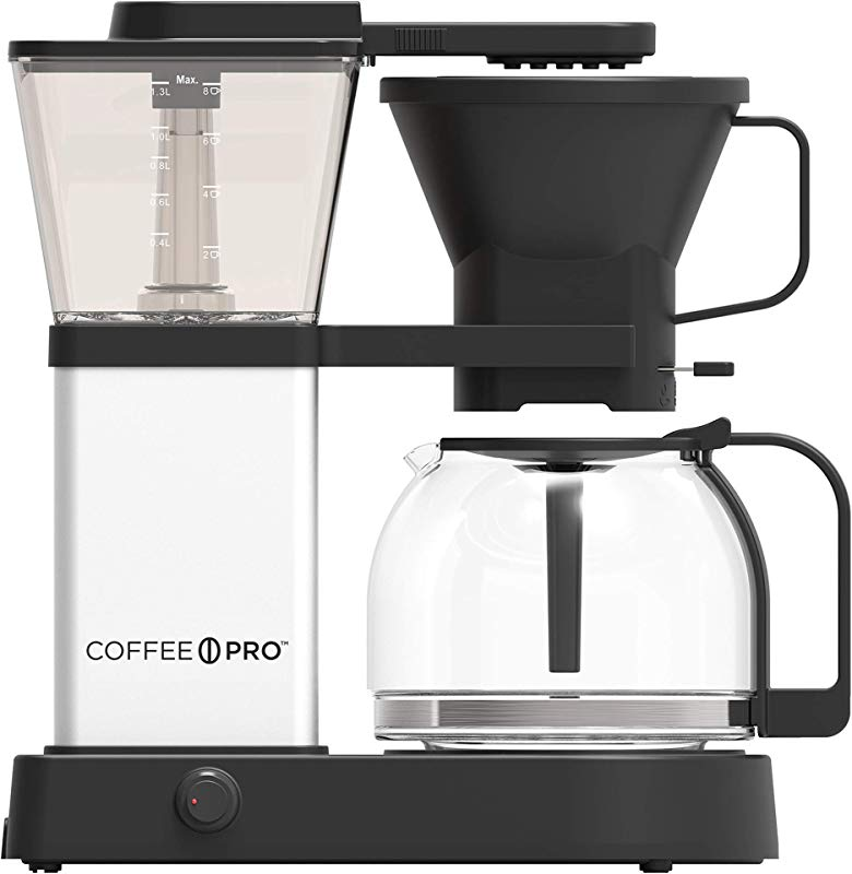 CoffeePro 8 Cup Pourover Coffee Brewer Programmable 8 Cup S Multi Serve Black Silver