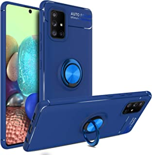 Galaxy A71 5G Case, Yunerz Slim Hybrid Defender Armor 360 Degree Rotating Ring Kickstand Protective Case with Magnetic Cas...