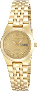 Seiko 5 Women's Gold Dial Stainless Steel Automatic Watch - SYMG80J1