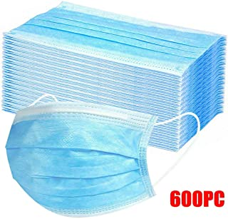 SEFROMAS Disposable 3 layer Non-woven Anti-Particle Anti-droplet Anti-pollen Dust-proof Breathable Dustproof (600PCS)