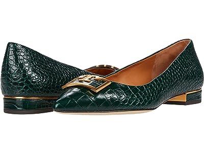Tory Burch 20 mm Gigi Pointy Toe Flat (Verde) Women