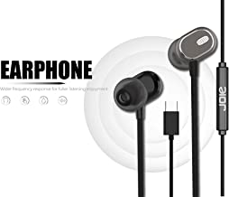 Nwark/Joie® USB Type C Earphones [Upgraded Version] Wired in-Ear Earbuds w/Mic, Noise Cancelling Sports Earphones Compatible with One Plus 7pro/7/6T (Coffee)