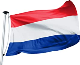 FLAGLY Premium Nederlandse vlag, vlaggen 100 x 150 cm -160g/m² stofgewicht - handgemaakt, Robuust en weerbestendig scheeps...