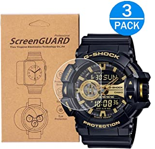 [3-Pack] For Casio GA-400 / GA400 Screen Protector,Full Coverage HD Clear Anti-Bubble and Anti-Scratch for Casio GA-400/ GA-400-1BJF/ GA-400GB / GA-400-4A / GA-400-1AJF / GA400GB-1A4