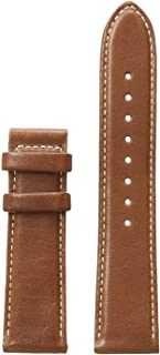 CS1002S3 22mm Leather Calfskin Brown Watch Strap