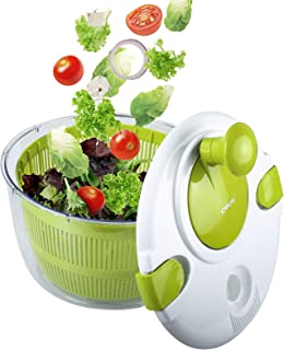 OVOS Salad Spinner Large 5 Quarts Fruits and Vegetables Dryer Quick Dry Design BPA Free Dry off and Drain Lettuce and Vege...