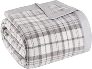 JLA Home Inc Micro Fleece Luxury Premium Soft Cozy Mircofleece Blanket for Bed, Couch or Sofa, Twin, Grey