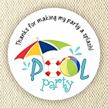 pool party labels
