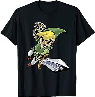 Nintendo Zelda Young Link Cartoon Sword Leap T-Shirt
