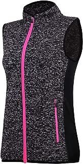 ANIVIVO Sweater Vest Sleeveless for Women with Pockets, Women Fleece Vest Jersey Full Zip Jacket Vest for Winter& Spring