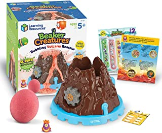 Learning Resources Beaker Creatures Bubbling Volcano Reactor, Includes 5 Science Experiments, 6Piece, Ages 5+
