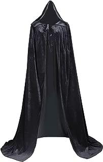 Unlined Velvet Medieval Renaissance Hooded Cloak Cape