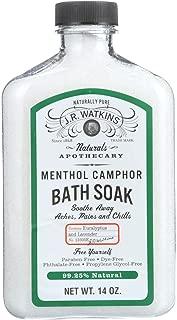 J.R. Watkins Menthol Camphor Bath Soak - Naturally Pure - Paraben Free - 14 oz (Pack of 4)
