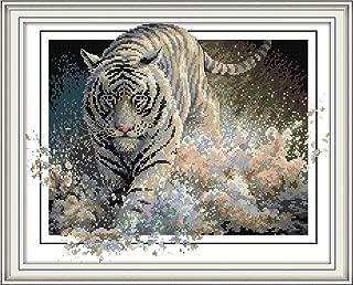 white tiger cross stitch